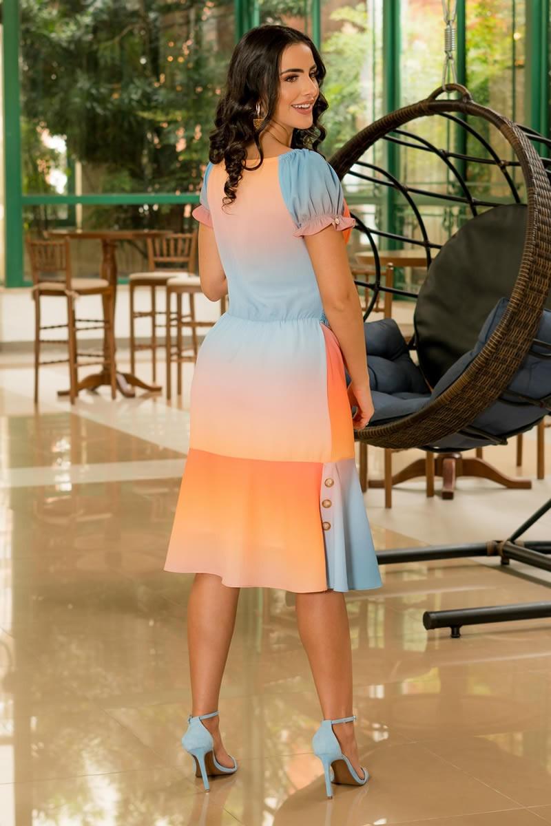 Vestido Luciana Pais Crepe e Elastex Frontal 92931