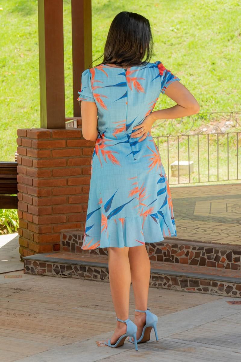 Vestido Luciana Pais Crepe Estampado 92947