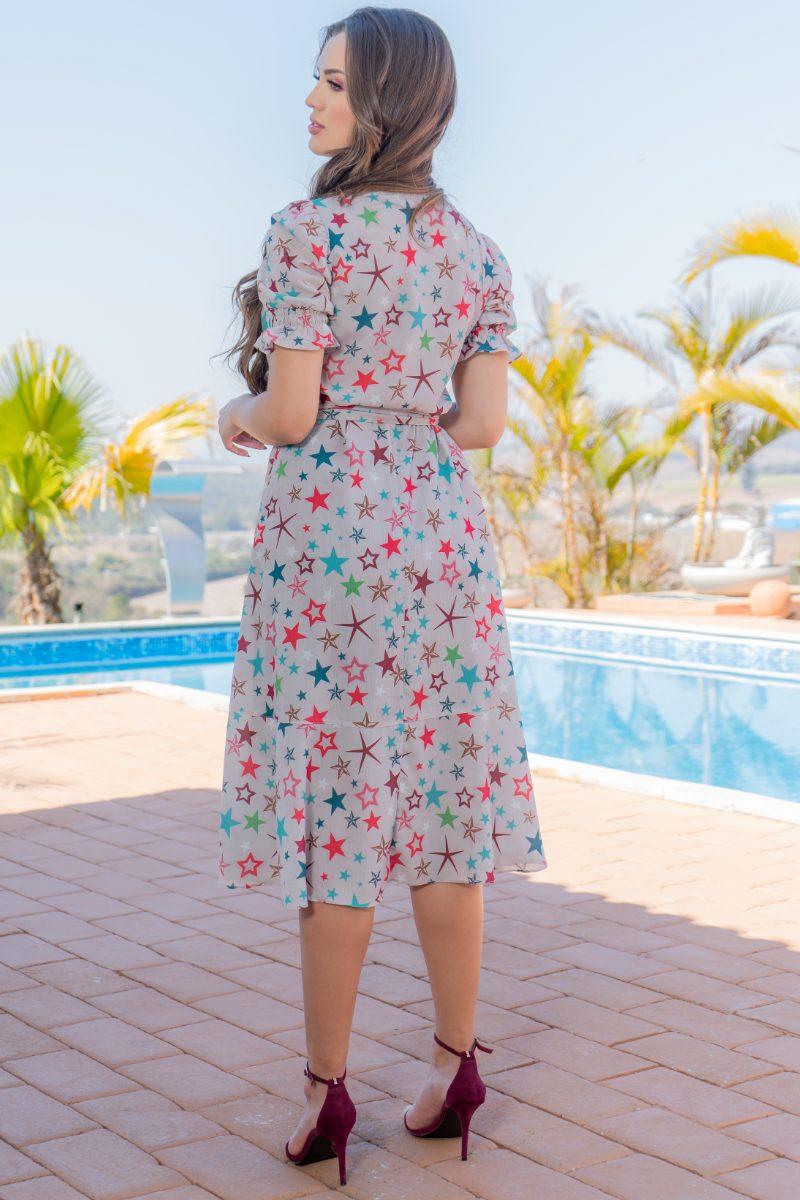 Vestido Luciana Pais Crepe Estampado 93104
