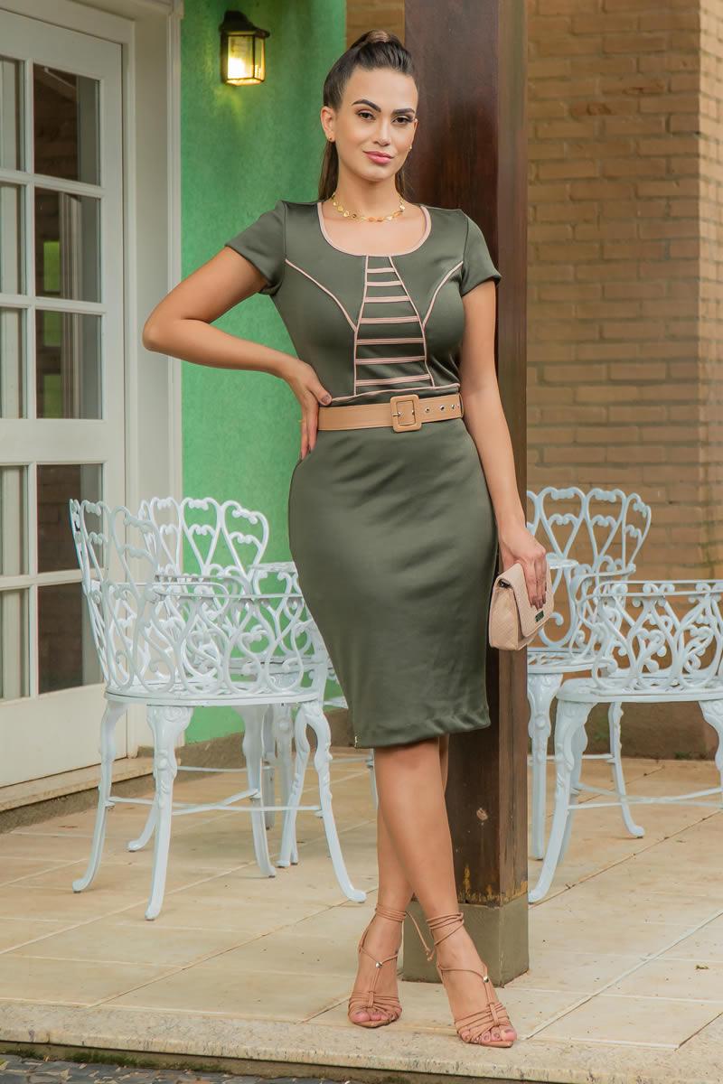 Vestido Luciana Pais em Bandagem 92972