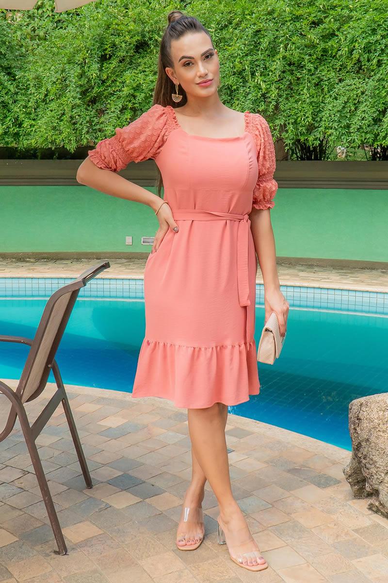 Vestido Luciana Pais em Crepe 92981
