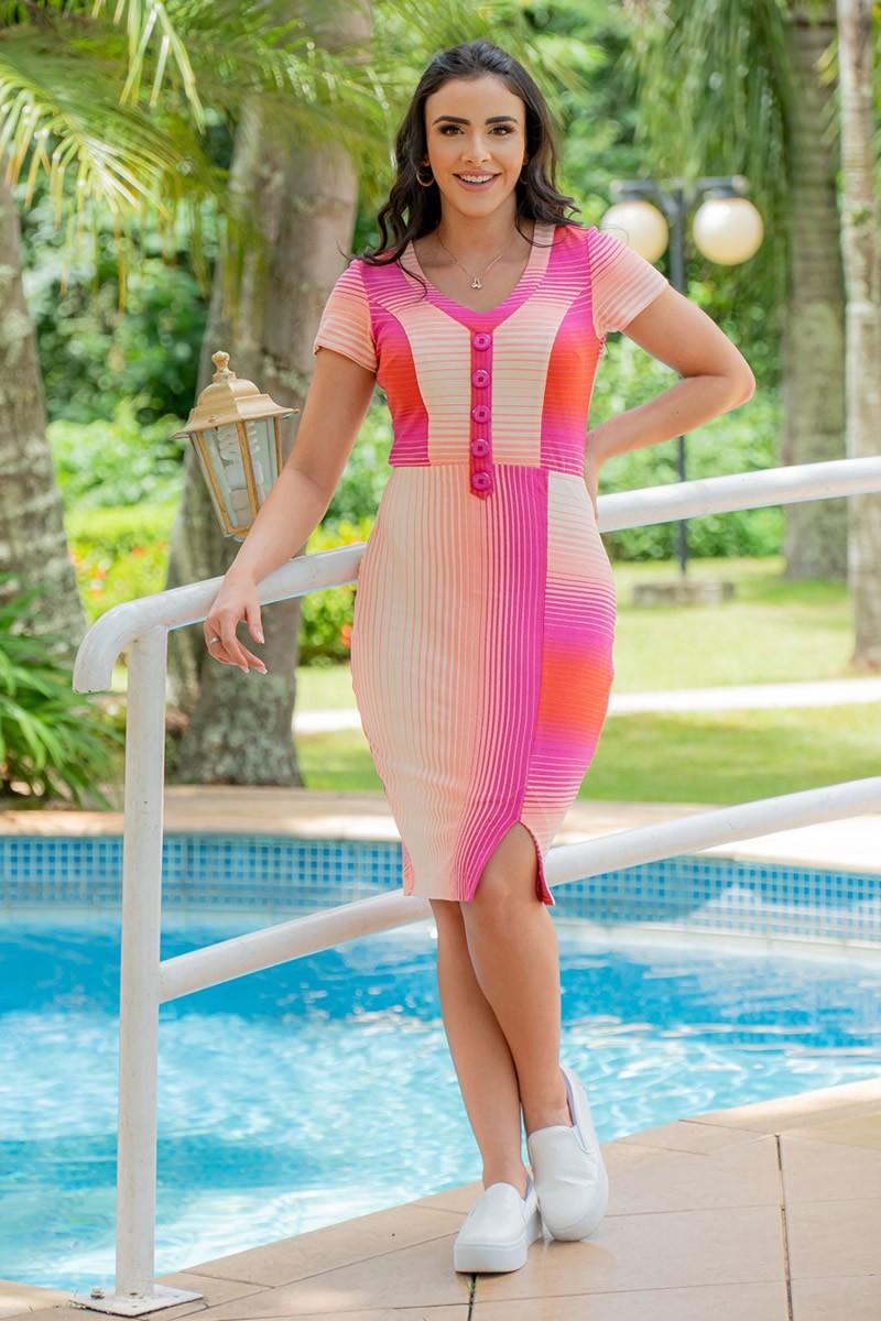 Vestido Luciana Pais em Malha Crepe 92955
