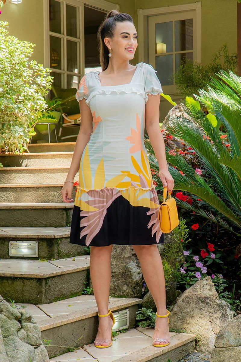 Vestido Luciana Pais em Viscose 92961