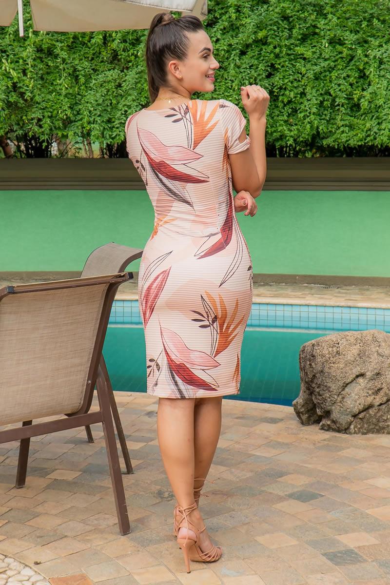 Vestido Luciana Pais Malha Canelada 92936