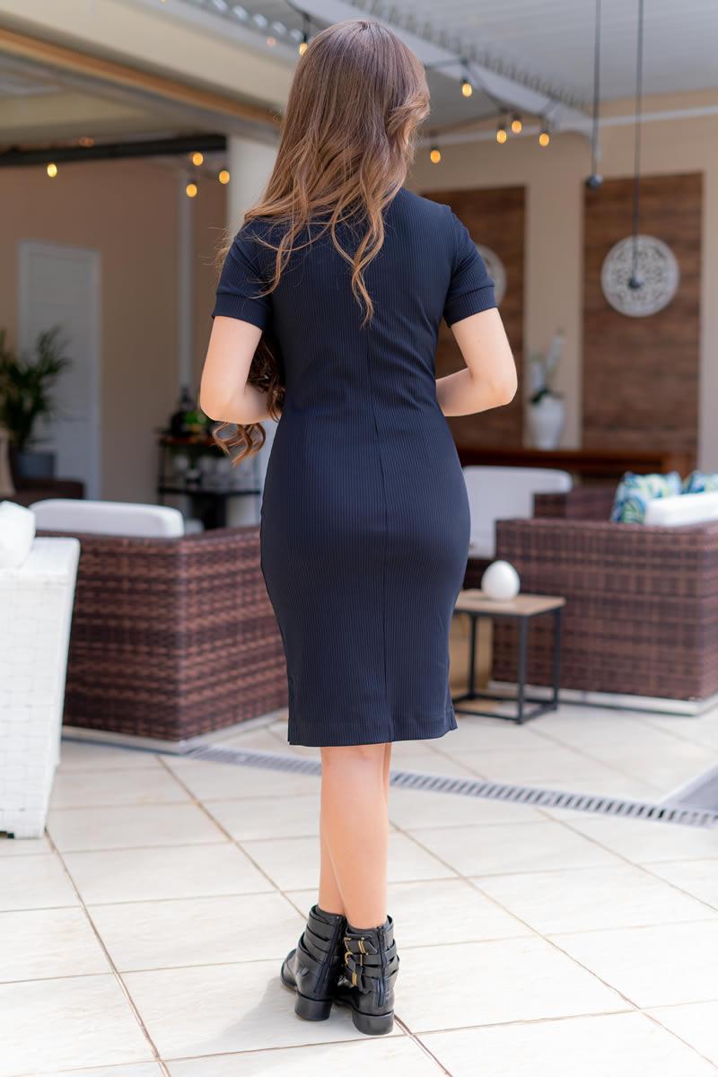 Vestido Luciana Pais Malha Canelada 93121