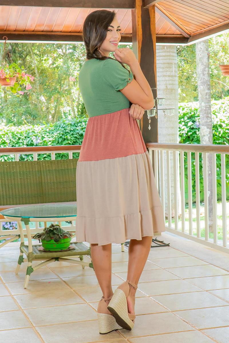 Vestido Luciana Pais Malha Collor 92960
