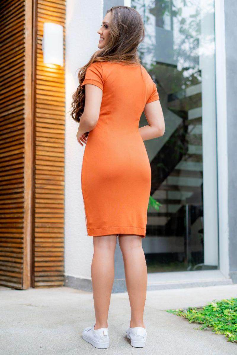 Vestido Luciana Pais Malha com Vivos 93146