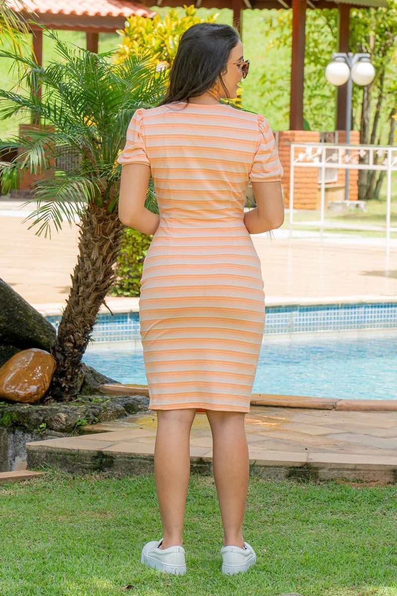Vestido Luciana Pais Malha Crepe Bolso Falso 92950