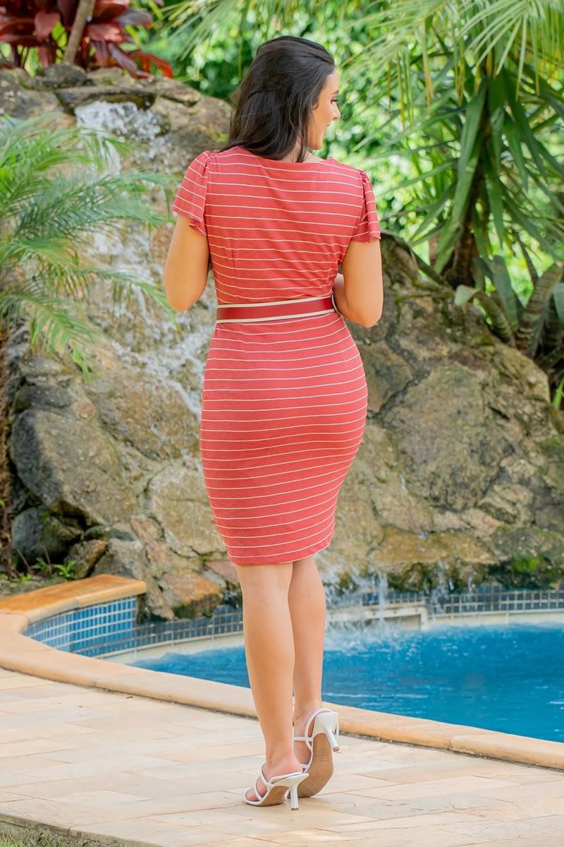 Vestido Luciana Pais Malha Crepe Risca de Giz 92945