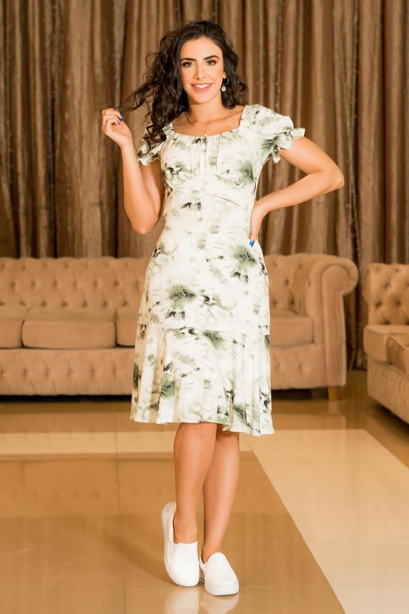 Vestido Luciana Pais Malha Ty-Day 92913 Verde