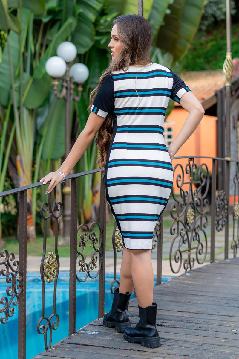 Vestido Luciana Pais Moletom Mescla com Bolsos 93028