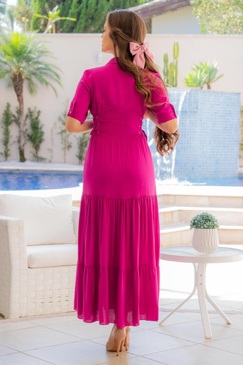 Vestido Luciana Pais Viscolinho com Bolsos 93093