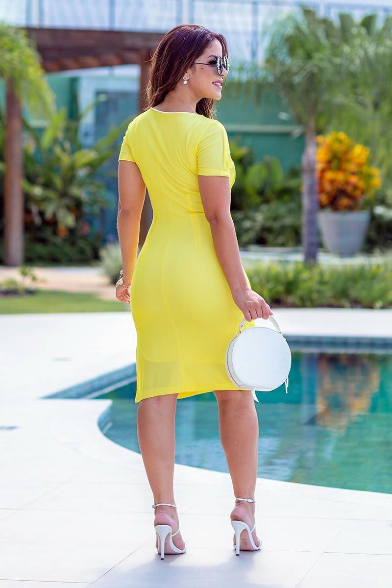 Vestido Malha Canelada  Luciana Pais 92721