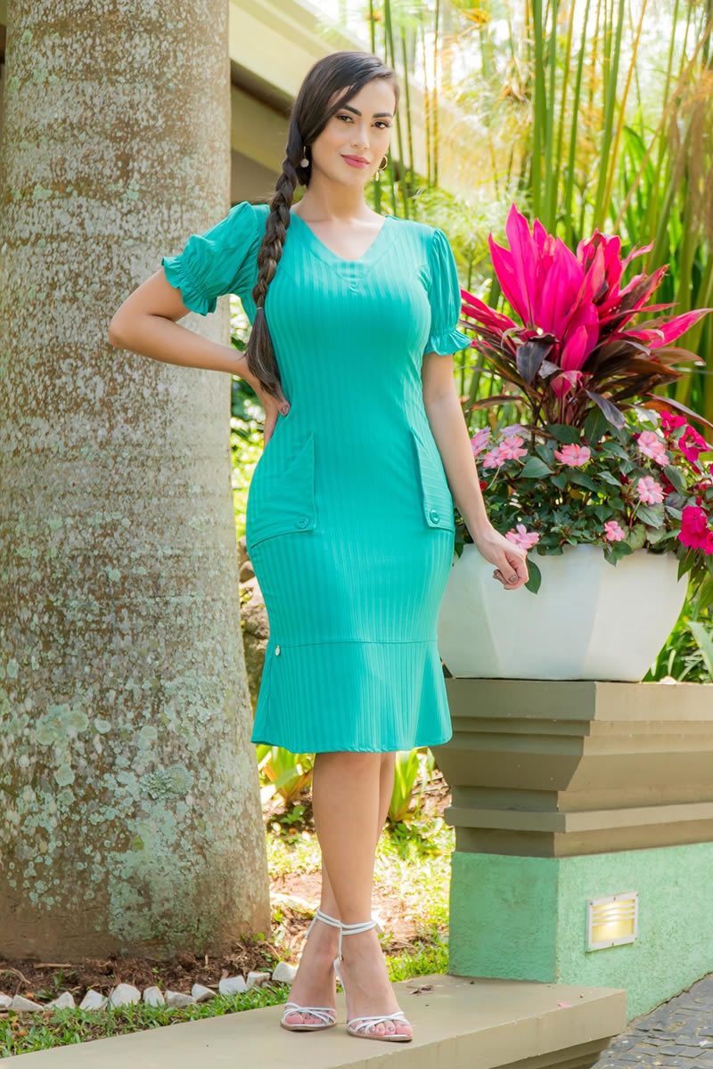 Vestido Malha Canelada Luciana Pais 92978