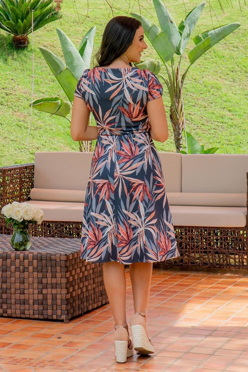 Vestido Malha Canelada Luciana Pais com Fivela 92940