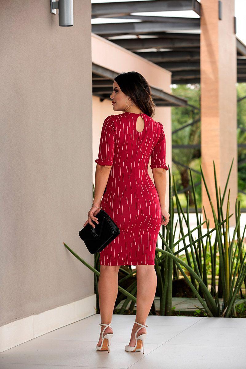 Vestido Malha com Detalhe Elástico Luciana Pais 92411