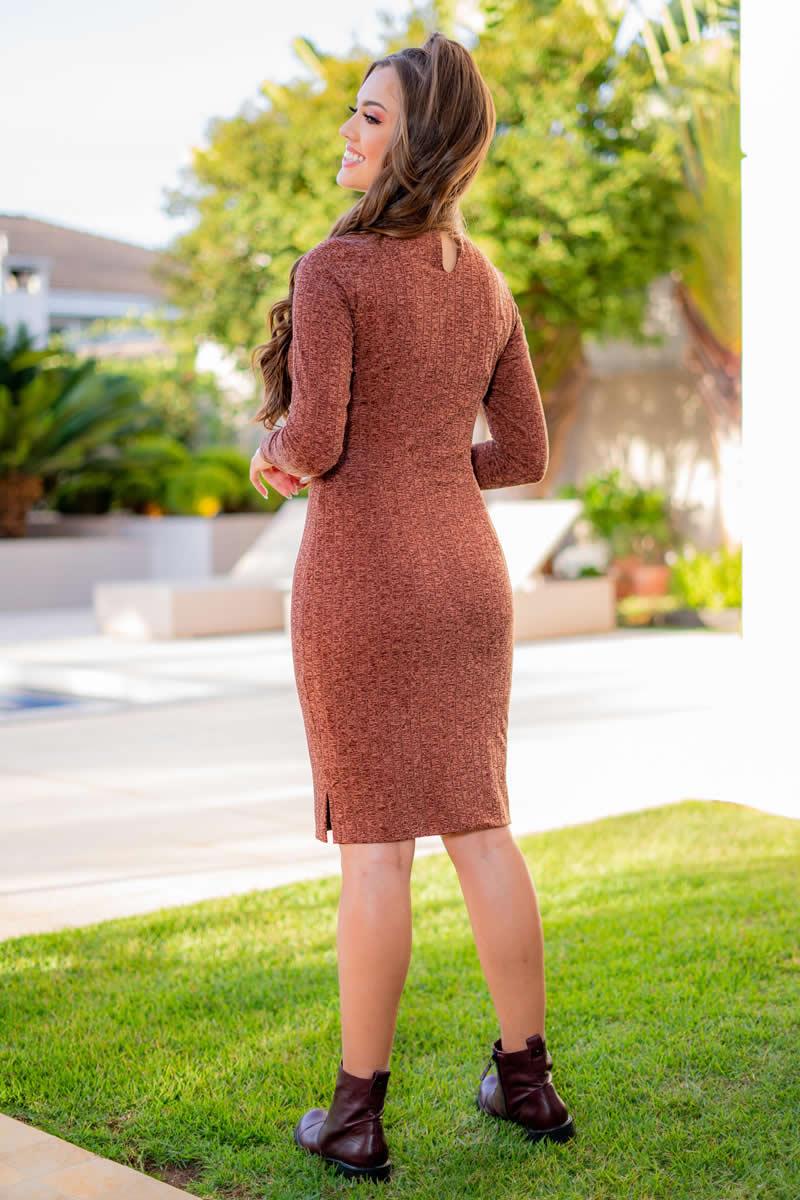 Vestido Malha Luciana Pais Canelada 93073
