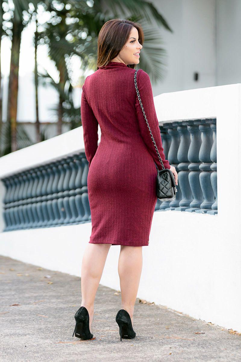 Vestido Malha Luciana Pais 92757 Vermelho