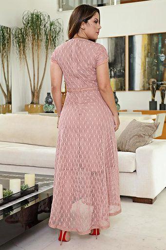 Vestido Moda Evangélica Renda Kauly 2610