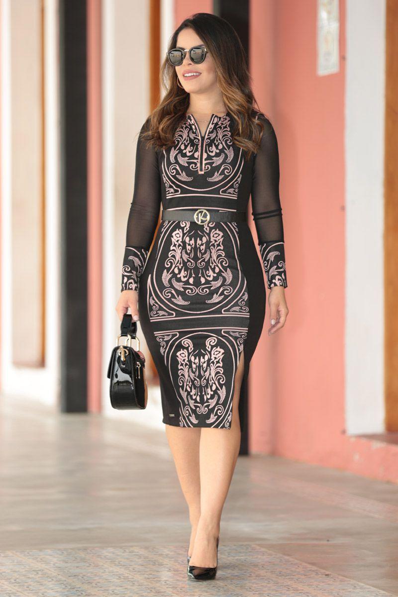 Vestido Montaria Estampa Exclusiva Kauly Moda Evangélica 2546