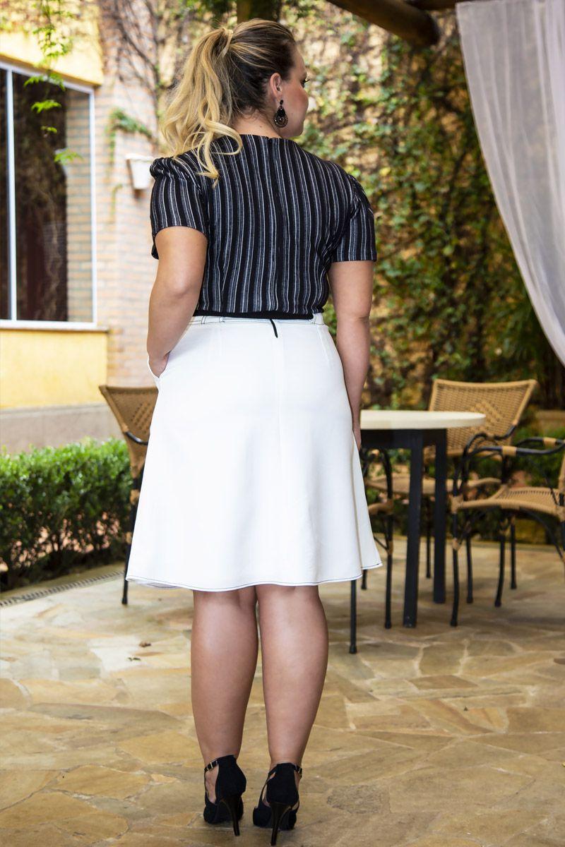Vestido Plus Size 2 Cores com Forro Kauly 2282