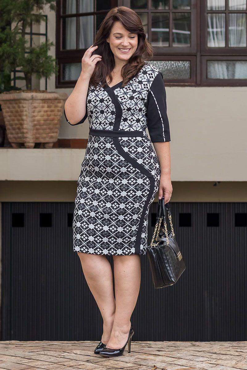 Vestido Plus Size Alfaiataria Jaquard Kauly Moda Evangélica 2551