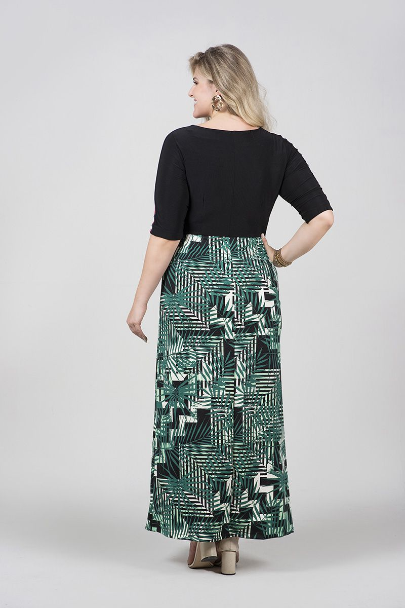 Vestido Plus Size Malha Kauly Moda Evangelica 2503