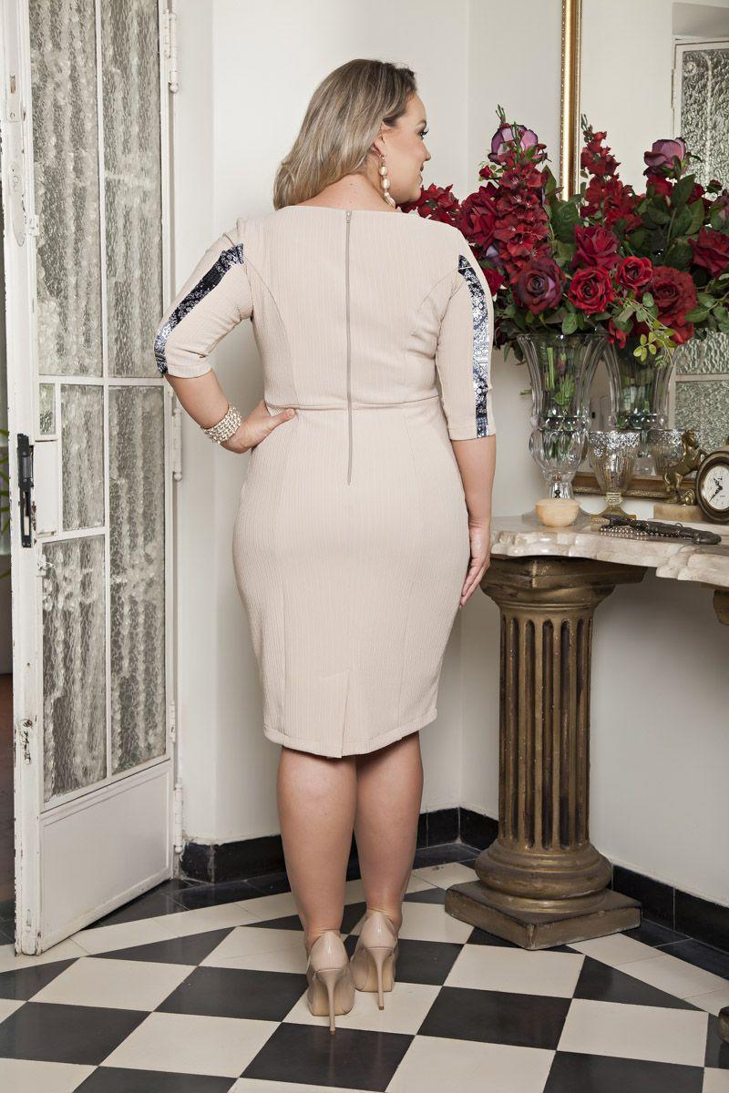 Vestido Plus Size Malha Kauly 2185