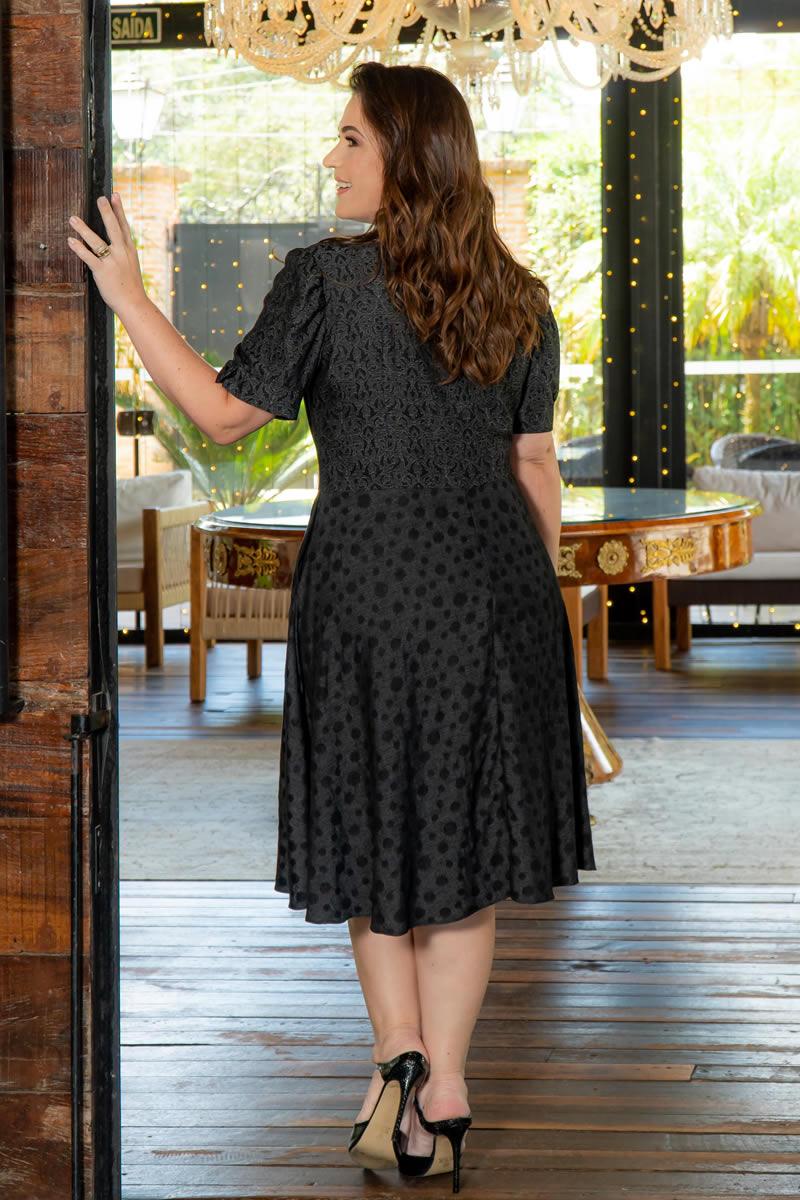 Vestido Plus Size Viscose Lady Lake  com Bolso Kauly 3047