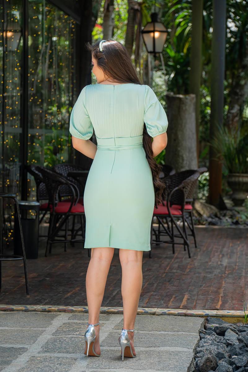 Vestido Seda com Saia Alfaiataria Luciana Pais 92994