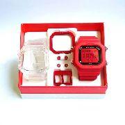 Relógio Champion Yot Unissex Troca Pulseira Vermelho Transparente  Cp40180x-81255