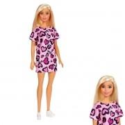 Boneca Barbie Fashion And Beauty Loira Vestido Rosa - Mattel GHW45