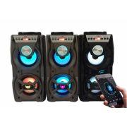 Caixa De Som Portátil 10W Bluetooth Fm Micro Sd Aux Usb Led Altomex  A-501