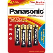 Pilha Panasonic Alcalina AA 1,5V  Cartela Com 6 Unidades LR6XAB/L6P5192