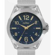 Relógio Condor Masculino Pulseira Milanese Prateado CO2035KYL/3A