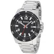 Relógio Magnum Analógico Calendário Masculino Casual Prata Ma35057t