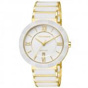 Relógio Technos Cerâmica Branco Feminino Elegance 2015BV/4B