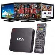 Conversor TV BOX Android 7.1 MX9 4K Google PC HDMI Quadcore WI-FI Netfix