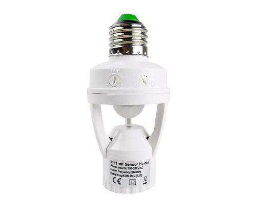 Sensor Presença P/ Lâmpada Soquete E27 Até 16w