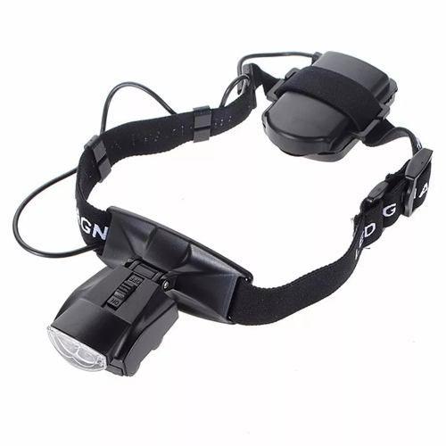 Oculos Lupa De Cabeça Com 5 Lentes Estojo 2 Leds E Elastico