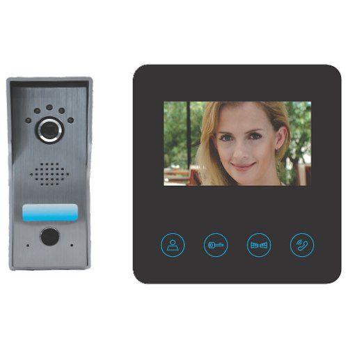 Vídeo Porteiro Eletrônico Interfone Visão Noturna 4.3 Prova D'água
