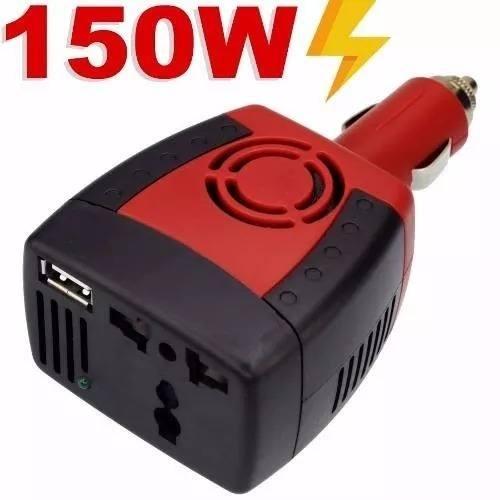 Inversor De Tensão Veicular 150w 12v 110v Transformador Usb