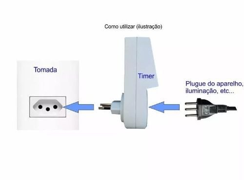 Timer Temporizador Digital Programa Diário Bivolt Liga Desliga