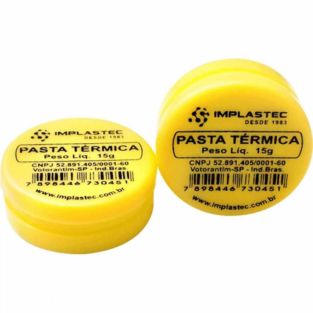 2 Pasta Térmica de Silicone Implastec 15g