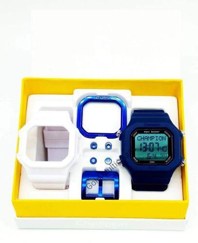 Relógio Champion Yot Unissex Troca Pulseira Azul Branco Cp40180x-81923