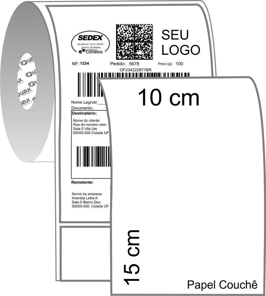 Etiquetas Couche Térmica Adesiva 2 Rolos 500 Un 10x15cm Mercado Envio