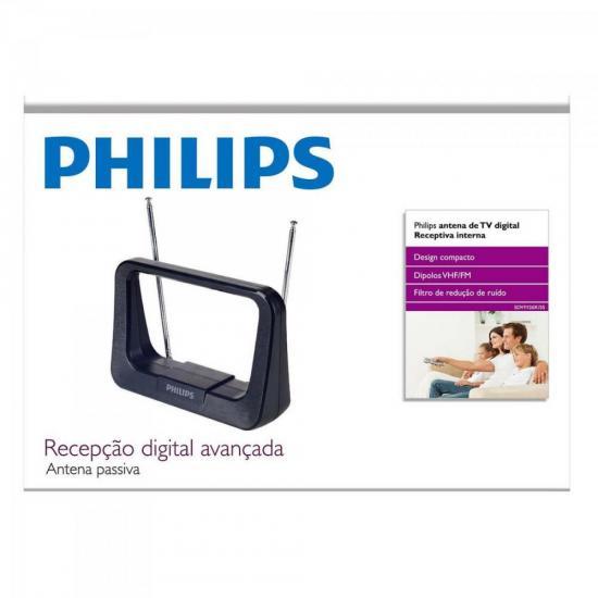 Antena Digital Interna Hdtv/Uhf/Vhf/Fm Sdv1126X/55 Preta Philips
