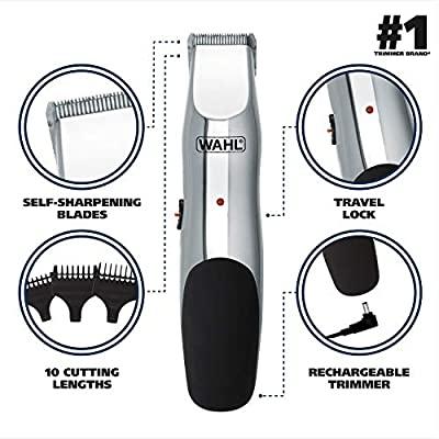 Aparador De Pelos Faciais Barba Beard Stubble Recarregável  Prata Bivolt WAHL