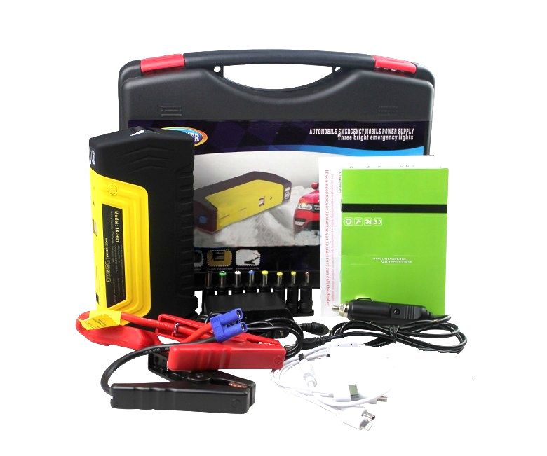 Auxiliar Partida Jump Starter Bateria Veicular Carro Moto 600a Bivolt