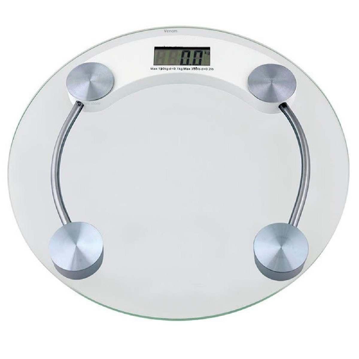 Balança Corporal Digital de Vidro Para Banheiro Consultórios 180Kg Personal Scale